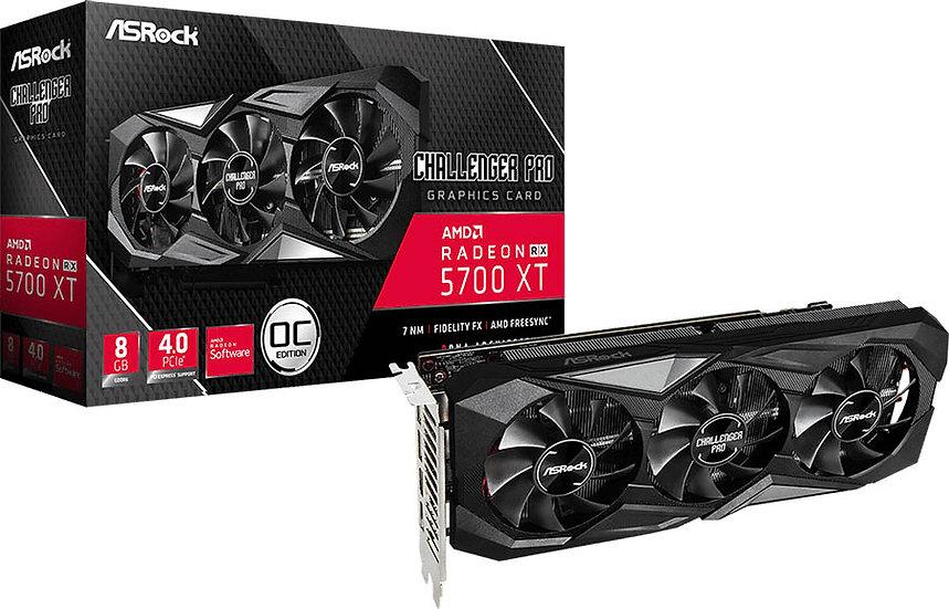 Asrock RX 5700 XT Challenger Pro 8G OC, 8GB GDDR6, PCIe4, HDMI, 3 DP, Overclocke