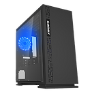 GameMax Expedition Black Gaming Matx PC Case Rear LED Fan & Full Side Window