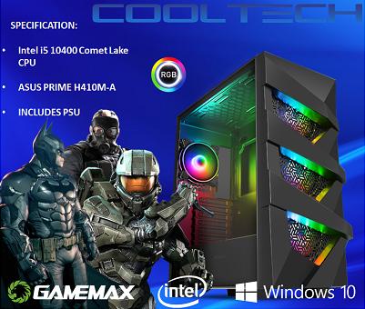 CTBB36 Intel i5 10400 Comet Lake - BAREBONES PC NO RAM NO SSD - PRE-BUILT SYSTEM