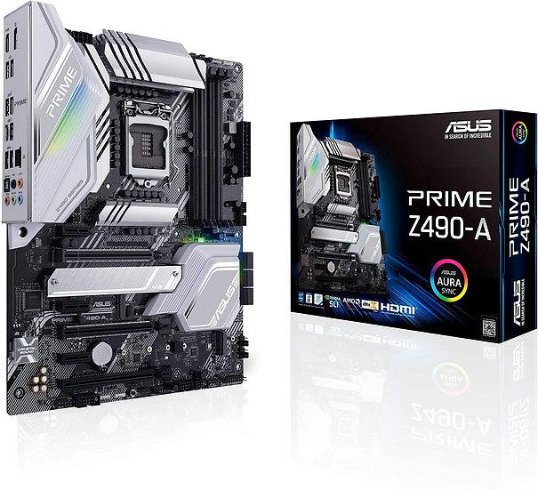 Asus PRIME Z490-A, Intel Z490, 1200, ATX, 4 DDR4, SLI/XFire, HDMI, DP, 2.5GB LAN