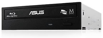 Asus (BW-16D1HT) Blu-Ray Writer, 16x, SATA, Black, BDXL & M-Disc Support, Cyber