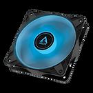 Arctic P12 12cm Pressure Optimised PWM PST RGB 0dB Case Fan, Black, Fluid Dynami