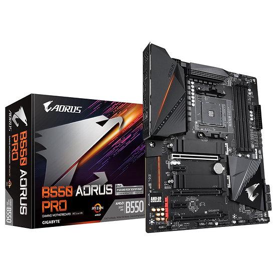 Gigabyte B550 AORUS PRO AMD Socket AM4 ATX HDMI Dual M.2 USB 3.2 C Gen2 Motherbo