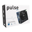 Pulse 650W PSU, ATX 12V, Active PFC, 4 x SATA, PCIe, 120mm Silent Red Fan, Black