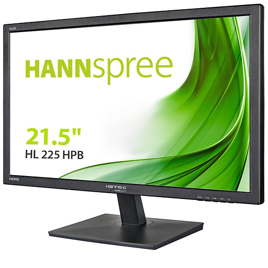 "Hannspree HL225HPB 21.5"" Full HD LED VGA / HDMI with Speakers Monitor"