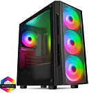 CiT Flash Gaming Matx Case 4x ARGB fans TG Front and Side Panels EPE