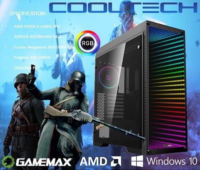 CTG11 AMD RYZEN 3 3200G with 8GB RAM + 240GB SSD - PRE-BUILT SYSTEM