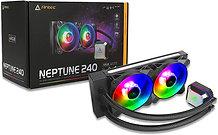 Antec Neptune 240 Liquid CPU Cooler, 240mm Radiator, 12cm PWM ARGB LED Fan