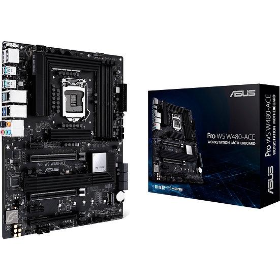 Asus PRO WS W480-ACE, Workstation, Intel W480, 1200 (Xeon W CPUs), ATX, HDMI, DP