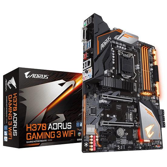 Gigabyte H370 AORUS Gaming 3 WIFI RGB Intel Socket 1151 ATX DVI/HDMI USB C 3.1