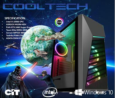 CTG137 Intel i5 10500 with 16GB RAM + 480GB SSD + 1TB HHD - PRE-BUILT SYSTEM