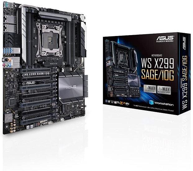 Asus WS X299 SAGE/10G, Workstation, Intel X299, 2066, CEB, DDR4, 7 x PCIe, U.2,