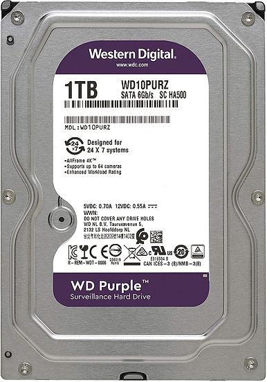 """WD Purple 1TB 3.5"""" SATA3 HD CCTV HDD/Hard Drive WD10PURZ"""