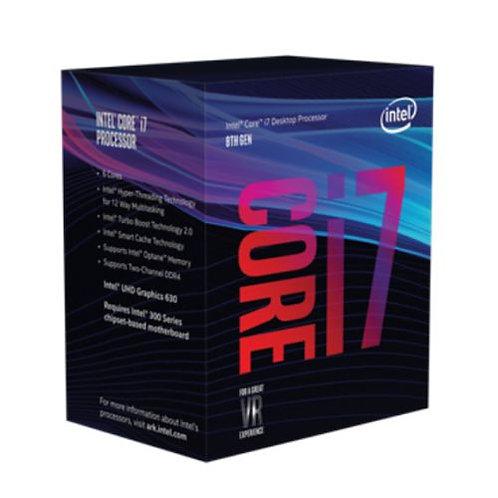 Intel Core I7-8700 CPU, 1151, 3.2 GHz (4.6 Turbo), 6-Core, 65W, 14nm, 12MB Cache