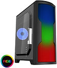 CiT Matrix Black Mid-Tower PC Gaming Case with Rainbow 75 LED Front Panel