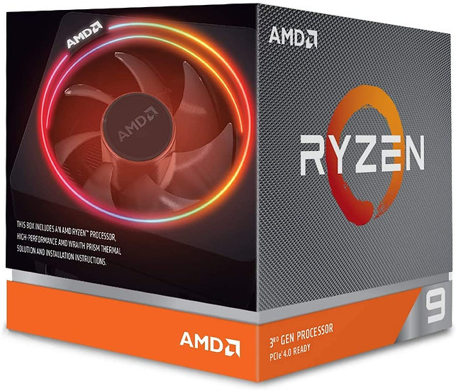 AMD Ryzen 9 3900x with Wraith Prism Cooler with RGB LED 3.8Ghz 12 Core AM4