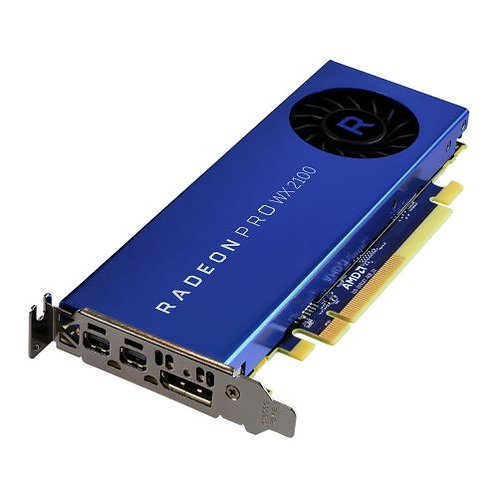 AMD Radeon Pro WX 2100 Professional Graphics Card, 2GB DDR5, DP, 2 miniDP (mDP t