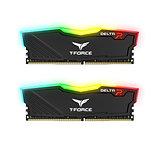 Team DELTA RGB 8GB Black Heatsink with RGB LEDs (2 x 4GB) DDR4 2666MHz DIMM Syst