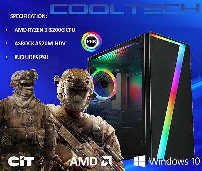 CTBB95 AMD RYZEN 3 3200G BAREBONES PC - NO MEMORY NO HARDDRIVE