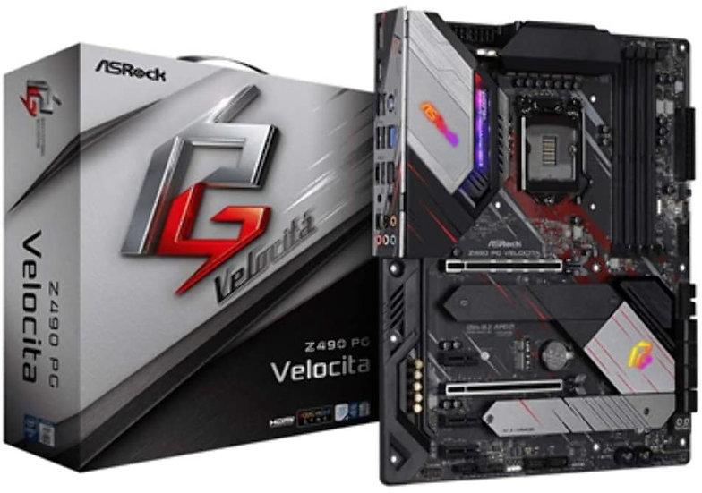 Asrock Z490 PG VELOCITA, Intel Z490, 1200, ATX, 4 DDR4, XFire, HDMI, DP, 2.5G LA