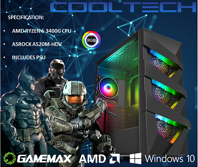 CTBB32 AMD RYZEN 5 3400G BAREBONES PC - NO RAM NO SSD - PRE-BUILT SYSTEM