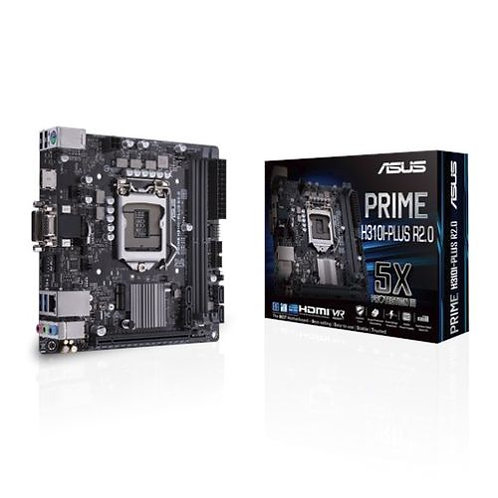 Asus PRIME H310I-PLUS R2.0, Intel H310, 1151, Mini ITX, DDR4, VGA, DVI, HDMI, M.