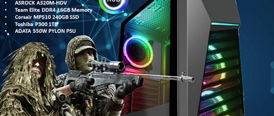 CTG106 AMD RYZEN 5 3400G with 16GB RAM + 240GB SSD + 1TB HHD - PRE-BUILT SYSTEM