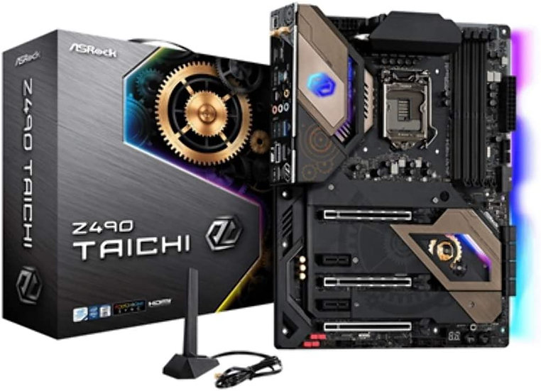 Asrock Z490 TAICHI, Intel Z490, 1200, ATX, 4 DDR4, XFire/SLI, HDMI, DP, AX Wi-Fi
