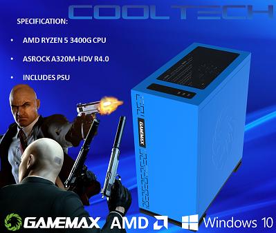 CTBB66 AMD RYZEN 5 3400G BAREBONES PC - NO RAM NO SSD - PRE-BUILT SYSTEM