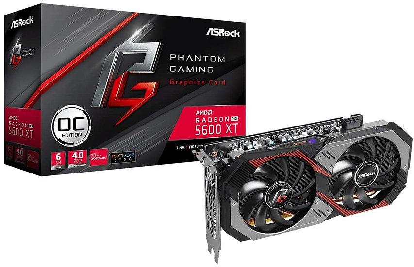 Asrock RX5600 XT Phantom Gaming D2 6G OC, 6GB DDR6, PCIe4, HDMI, 3 DP, 1750MHz