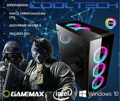 CTBB73 Intel i5 10400 Comet Lake - BAREBONES PC NO RAM NO SSD - PRE-BUILT SYSTEM