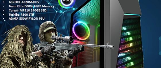 CTG105 AMD RYZEN 3 3200G with 16GB RAM + 240GB SSD + 1TB HHD - PRE-BUILT SYSTEM