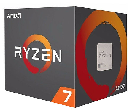 AMD Ryzen 7 2700 CPU with Wraith Cooler, AM4, 3.2GHz (4.1 Turbo), 8-Core, 65W