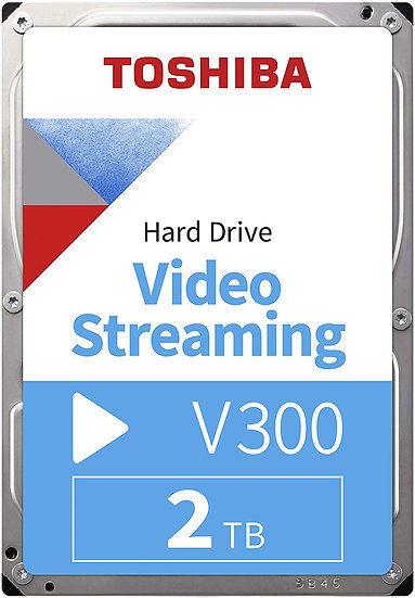 "Toshiba HDWU120UZSVA 2TB V300 3.5"" Video Streaming Hard Drive"