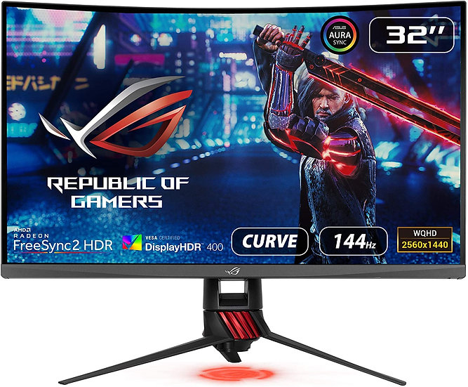 "Asus 32"" ROG STRIX WQHD Curved Gaming Monitor (XG32VQ), 2560 x 1440, 4ms, 2 HDM"