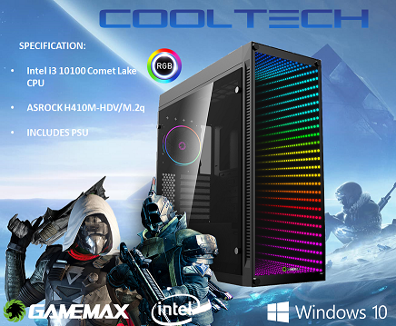 CTBB47 Intel i3 10100 Comet Lake - BAREBONES PC NO RAM NO SSD - PRE-BUILT SYSTEM