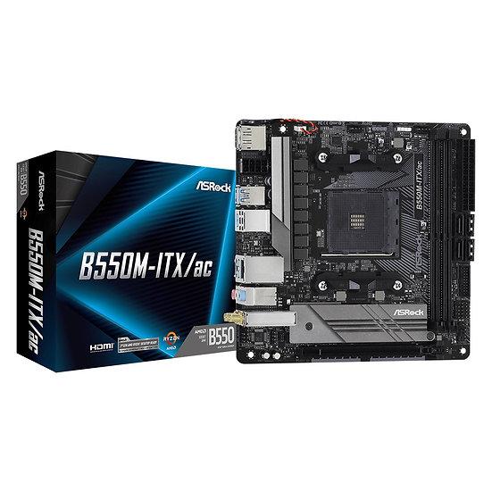ASRock B550M-ITX/ac AMD Socket AM4 Mini ITX HDMI/DisplayPort USB 3.2 C M.2 WiFi