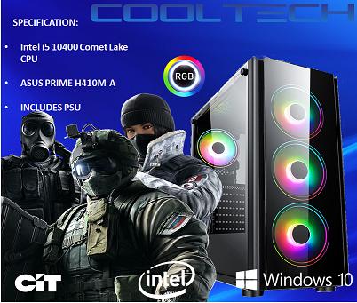 CTBB53 FXPC48 Intel i5 10400 Comet Lake - BAREBONES PC NO RAM NO SSD - PRE-BUILT