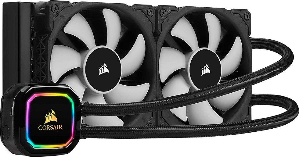 Corsair iCUE H100i RGB PRO XT 240mm RGB Liquid CPU Cooler, 2 x 12cm PWM Fans, 16