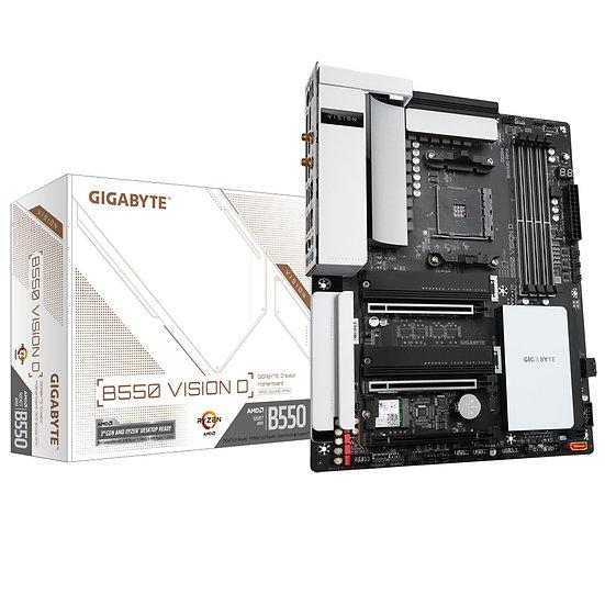 Gigabyte B550 VISION D AMD Socket AM4 ATX DisplayPort/HDMI Dual USB 3.2 C Dual L