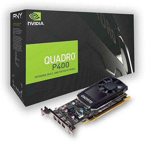 PNY Quadro P400 Professional Graphics Card, 2GB DDR5, 3 miniDP 1.4