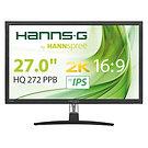 """Hannspree HQ272PPB 27"""" IPS WQHD 2K Display Port / HDMI with Speakers Black Monit"""