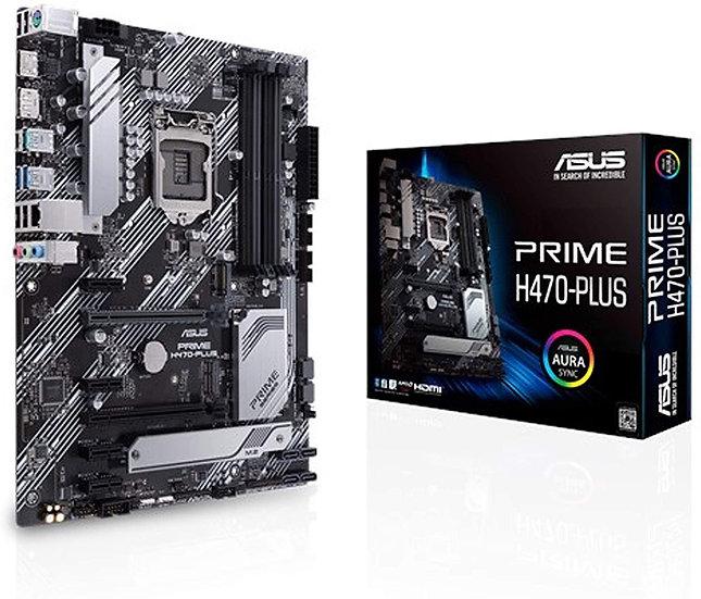 Asus PRIME H470-PLUS, Intel H470, 1200, ATX, 4 DDR4, XFire, HDMI, DP, RGB Lighti
