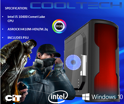 CTBB58 Intel i5 10400 Comet Lake - BAREBONES PC NO RAM NO SSD - PRE-BUILT SYSTEM