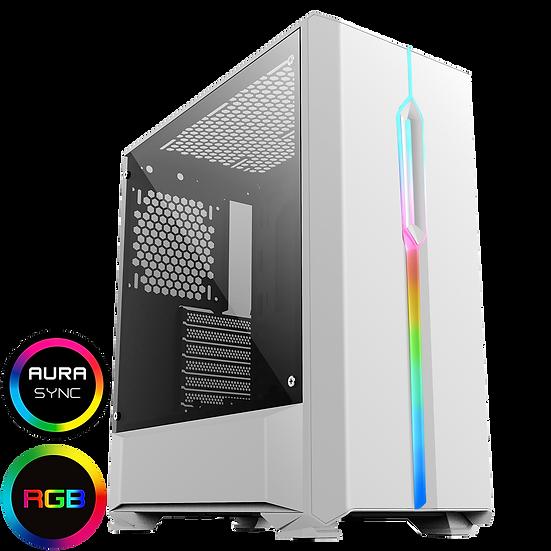 GameMax Solar White RGB Midi Tempered Glass Gaming Case MB SYNC 3pin