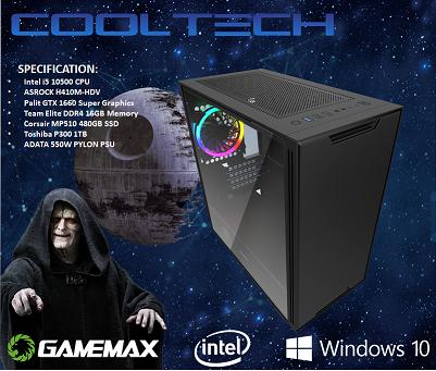 CTG136 Intel i7 10700K with 16GB RAM + 480GB SSD + 1TB HHD - PRE-BUILT SYSTEM
