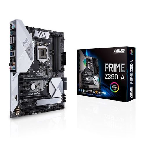 Asus PRIME Z390-A, Intel Z390, 1151, ATX, 4 DDR4, SLI/XFire, HDMI, DP, RGB