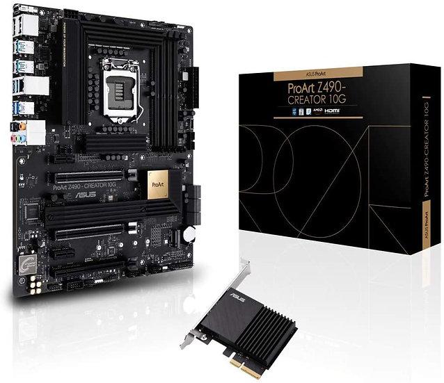 Asus PROART Z490-CREATOR 10G, Intel Z490, 1200, ATX, 4 DDR4, XFire, HDMI, 2 DP,