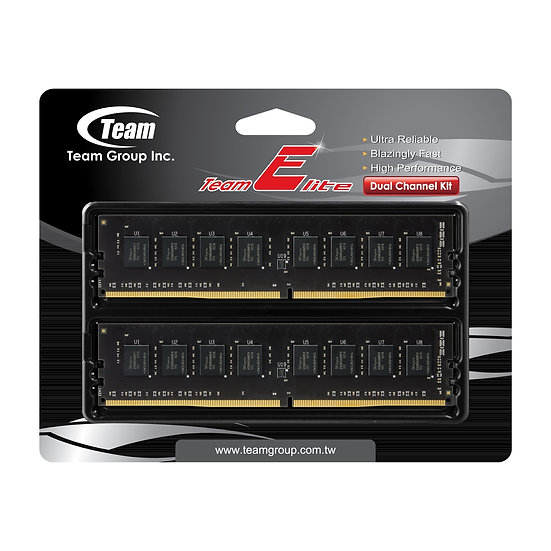 Team Elite 16GB Plus No Heatsink (2 x 8GB) DDR4 2400MHz DIMM System Memory