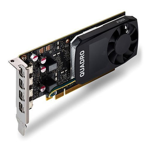 PNY Quadro P1000 Professional Graphics Card, 4GB DDR5, 4 miniDP 1.2 (1 x DVI & 4